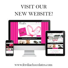 Our new website has launched :) www.ferdiachocolates.com Beautiful Gift Boxes, Product Launch, Chocolate, Website, Luxury, Phone, Gifts, Handmade, Telephone