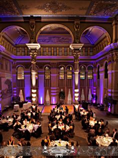 Venue: Grain Exchange | The Bartolotta Catering Company & Events 225 E. Michigan St. Milwaukee, WI 53202. Uplighting provide by Sound by Design. Photo by: FRP