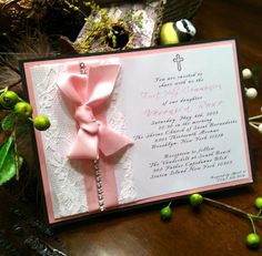 invitation can be used for any occasion! communion confirmation baptism sweet 16, wedding shower or baby shower