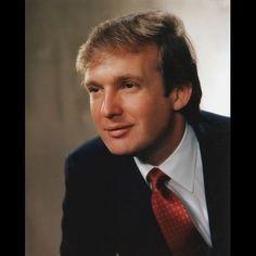 Young Donald Trump hair