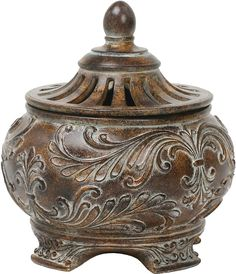 0-006291>Fortress Lidded Bowl Brown