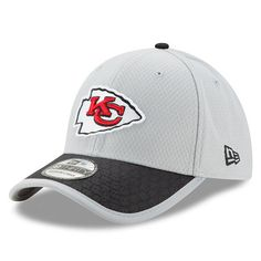 Men s Kansas City Chiefs New Era Gray 2017 Sideline 39THIRTY Flex Hat Nfl  Kansas City Chiefs ce54bf867