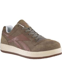 RB193 Reebok Women s Skateboard Safety Shoes - Taupe Steel Toe Shoes 78c97dc3e