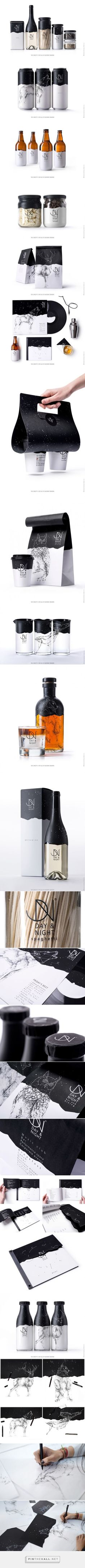 Day & Night packaging designed by Backbone Branding (Armenia) - http://www.packagingoftheworld.com/2016/03/day-night.html: Corporate Identity Design, Branding Design, Design Typography, Label Design, Brand Identity, Lettering, Branding Ideas, Design Agency, Product Packaging Design