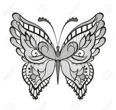 Zusammenfassung Dekorativen Schmetterling. Lizenzfreie Fotos, Bilder Und Stock Fotografie. Image 37038921.