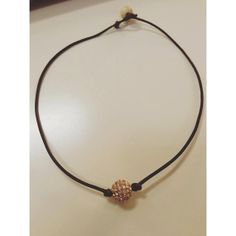 Brown Rope Pave Choker by MadisonMillerBeads on Etsy, $45.00