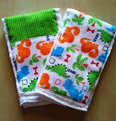 2 PK Handmade Cloth Diaper Baby Boy Burp Cloth with Dinosaurs Shower Gift   eBay