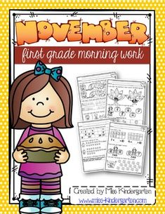 This November morning work bundle is filled with activities such as identifying final blends, digraphs, fixing sentences, writing numbers, making ten and number bonds! There is so much more in the bundle that can be incorporated into morning tubs and they all align with common core! #fall #kindergarten