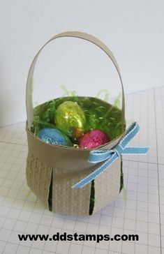 Make a Paper Basket using a Few Stampin' Up! Supplies Click on the image and get instructions!