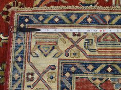 Special Kazak Design Hand-Knotted Pure Wool Oriental Rug- Product:5-1-x6-3-Special-Kazak-Design-Hand-Knotted-Pure-Wool-Oriental-Rug-Sh37505