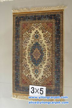 The hand knotted silk carpet has a nice design. www.yilongcarpet.com alice@yilongcarpet.com WhatsApp: +86 15638927921