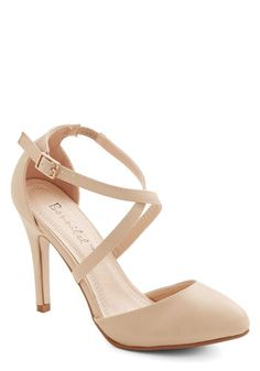Oeuvre the Moon Heel - High, Faux Leather, Solid, Prom, Wedding, Bridesmaid, Good, Strappy, Cream, Special Occasion