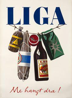 Peter Birkauser poster: Liga, Me hangt dra!