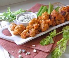 Breaded & Unbreaded Buffalo Cauliflower │Does cauliflower taste like chicken? Nope ... and it probably never will. But this recipe will brings cauliflower to the next level.