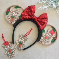 Disney Minnie Mouse Ears, Diy Disney Ears, Disney Diy, Disney Crafts, Disney Land, Disney Ideas, Disney Ears Headband, Disney Headbands, Mickey Christmas