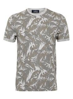 grey leaf palms roll up shirt
