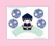 Korean Party Cupcake Kit-Printable PDF Download por JooSweetieToo