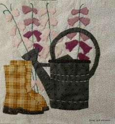 Scrap,quilt and stitch: Grandma's garden, bloc 9