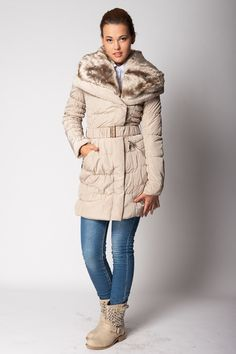 Long Padded Jacket With Detachable Fur Collar - Jackets & Coats - Clothing  http://jessyss.com/clothing/jackets-coats/long-padded-jacket-with-detachable-fur-collar-5804.html?barva=