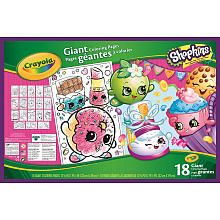 Crayola Shopkins Giant Coloring Book<br><ul><li>Only available at Toys R Us</li><br><li>Color your favorite Shopkins Friends</li><br><li>Great gift for the Shopkins Collector</li><br><li>Great for on the go activities</li></ul>