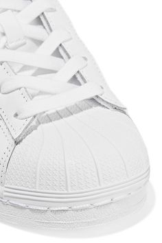 adidas Originals - Superstar metallic-trimmed leather sneakers 62aacd877