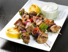 Our friends at Wexford's Talbot Hotel gave us this delicious recipe featuring spiced lamb kebabs with Killowen Farm yogurt tzatziki sauce Kebab Recipes, Raw Food Recipes, Aubergine Recipe, Lamb Skewers, Natural Yogurt, Tzatziki Sauce, Quality Kitchens, Ketogenic Recipes, Us Foods
