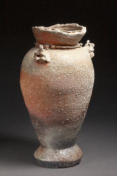 Joe Bruhin 1a  Iga Vase w/caves  18in X 9 in
