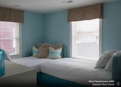 Make An L Shape To Get Two Twin Beds Into A Small Guest Room