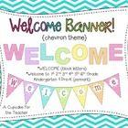 A Cupcake for the Teacher: Welcome Banner {Chevron Theme} Bearden Miller Classroom Organisation, Future Classroom, Classroom Themes, School Classroom, Classroom Activities, Circus Classroom, Chevron Classroom, Owl School, School Fun