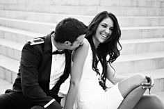 City Chic Military Engagement Shoot | Bridal Musings | A Chic and Unique Wedding Blog