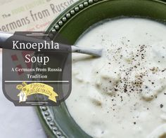 a traditional Germans from Russia soup with knoephla (dumplings) and cream.