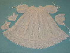 Free Crochet Christening Dress   Free Crochet Pattern - Christening Dress from the Baby dresses