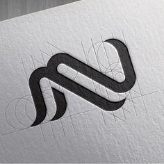 "871 Likes, 13 Comments - Goran Jugovic / Горан Југовић (@g.designthings) on Instagram: """"NM"" design process by @g.designthings . . . . #logoroom #logoinspirations #logosai #logo #adobe…"""
