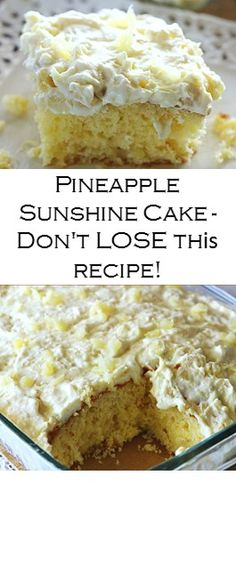 Ingredients Cake: 1 box yellow cake mix 4 eggs cup oil (I used vegetable oil) 1 oz) can crushed pineapple with juice Frosting: 1 . Dog Cake Recipe Pumpkin, Easy Dog Cake Recipe, Basic Vanilla Cake Recipe, Dog Cake Recipes, Chocolate Cake Recipe Easy, Cake Recipes From Scratch, Chocolate Chip Recipes, Easy Pineapple Cake, Pineapple Desserts