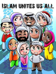Islam is the one and only thing that can unite people together. and how wonderful people are when they are united under one word: Islam. unfortunately, so many people have wrong understanding about. Islamic Qoutes, Islamic Teachings, Religious Quotes, Islamic Art, Allah Islam, Islam Muslim, Islamic Cartoon, Islam Women, Islam For Kids