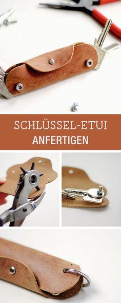 DIY Geschenkidee: Schlüsseletui aus Leder und Schrauben fertigen / diy giftidea: leather key case via DaWanda.com