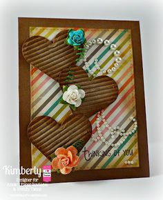 """DT Kimberly @ Twine It Up! by Annie's Paper Boutique with a lovely card featuring the New """"Smile"""" stamp set."""