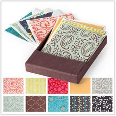 @WorldCrafts Hope for India Card Set-This set of 10 handmade cards in 10 different patterns will make you eager to write letters to loved ones. Each card is made by women artisans in India who are making an income that provides for their families in numerous ways. Each card measures 4.25-by-5.25 inches and includes an envelope. #fairtrade