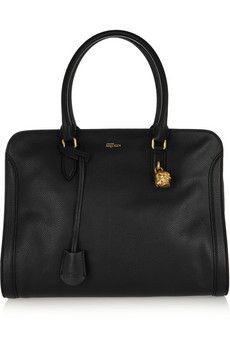 Alexander McQueen Padlock large textured-leather tote | NET-A-PORTER