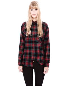 ONE POCKET CHECK PRINT SHIRT - NEW PRODUCTS - WOMAN - PULL Hungary