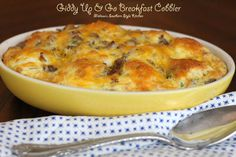 Melissa's Southern Style Kitchen: Giddy Up & Go Breakfast Cobbler What's For Breakfast, Breakfast Items, Breakfast Dishes, Breakfast Casserole, Breakfast Recipes, Country Breakfast, Sausage Breakfast, Starbucks Lemon Pound Cake, Melissas Southern Style Kitchen