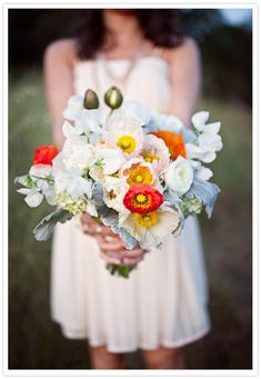 Happy, bright colors reflect how you should be feeling on the big day. How can you not smile while holding these!