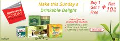 This Sunday we are offering some of the best Tea products on Sale.  #Tea #BrandedTea #SundaySale