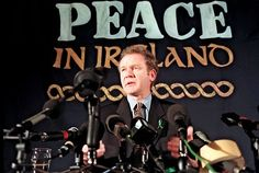 """Martin MC Guinness-  The Good Friday Agreement was signed in Belfast on 10 April, 1998, by the governments of Britain and Ireland, and was endorsed by the majority of political parties in Northern Ireland. Voters of Northern Ireland ratified the agreement in a referendum on 28 May, and it came into effect on 2 December, 1999. The Good Friday Agreement established the Northern Ireland Assembly with devolved legislative powers and marked a decrease of violence in """"the Troubles."""""""