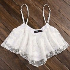 Summer Outfit - White Lace Crop Top