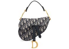 Buy and sell authentic handbags including the Dior Oblique Saddle Bag Mini Blue in Jacquard Canvas/Calfskin Leather with Aged Gold-tone and thousands of other used handbags. Saddle Handbags, Dior Handbags, Dior Purses, Coach Handbags, Designer Handbags, Coach Bags, Dior Saddle Bag, Saddle Bags, Small Crossbody Bag