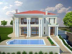 Row House Design, Simple House Design, Modern House Design, House Construction Plan, Beautiful House Plans, Duplex House Plans, Fantasy House, Mansions Homes, House Blueprints