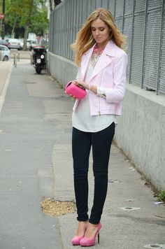 Simple cute. pink outfit.