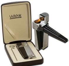 the all in one wickie pipe. a lighter and pipe and small storage compartment