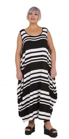 Yiannis Karitsiotis Stripe Jersey Circle Dress